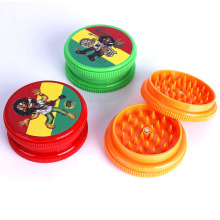 3 Layer Candy-Colored Plastic Portable Tobacco Smoke Grinder