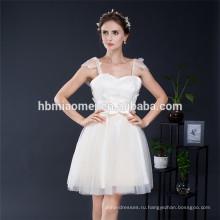 Сладкая Принцесса Цветочные Элегантный Ремень Спагетти Невесты Свадебное Платье Девушки День Рождения Платье Вечернее Платье Партии