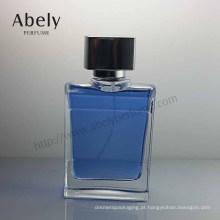 Frasco de perfume de vidro azul do tampão do mar Zamac de 100ml