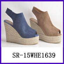 2015 nuevas mujeres del diseño acuña la sandalia de la manera calza la mujer del zapato del zapato de la sandalia