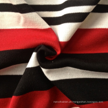 Poly / Rayon / Spandex Fios tingidos Stripe Knitting tecido Rib (QF13-0686)