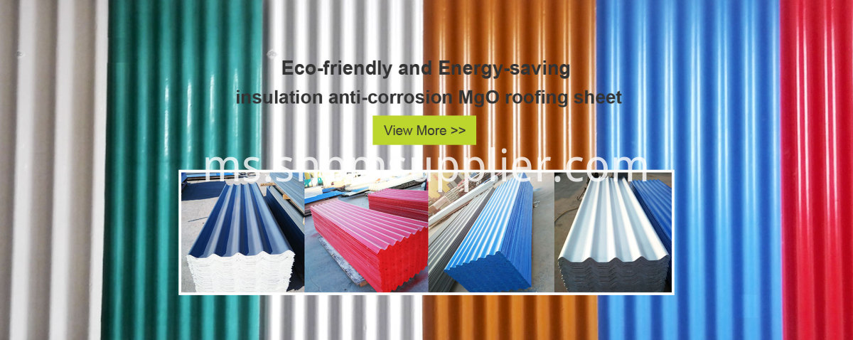 Impact-Resistant Anti-corrosion Insulating MgO Roof Sheets