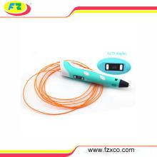 2013 New Cheap LCD Display ABS/PLA Supplies Digital 3D Drawing Pen Printer
