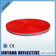 High visibility Polyester single face reflective webbing ribbon