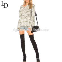 Moda camuflagem oversized moletom com capuz simples pullover hoodies para as mulheres