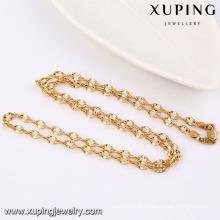 42944 Mode Cool échantillon 18 k plaqué or alliage de cuivre imitation bijoux chaîne collier