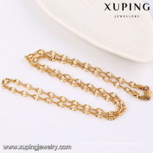 42944 Fashion Cool Sample 18k Gold-Plated Alloy Copper Imitation Jewelry Chain Necklace