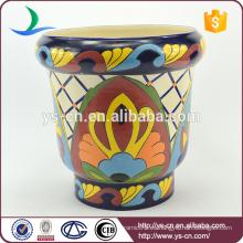 YSfp0001-01 Morden cosecha mano de cerámica de flores de maceta