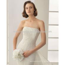 Robes de mariée en forme de mariée sans bretelles en forme de mariée sans bretelles 2014 avec une veste de dentelle à manches courtes détachable NB007