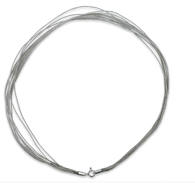 1mm diameter silver metallic cord
