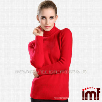 Sweat en tricot à col roulé en cachemire pour femme