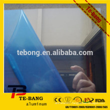 aluminum mirror sheet with blue PVC film