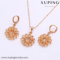 61912-Xuping мода женщина ювелирные изделия набор с 18k позолоченный