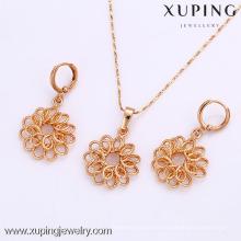 61912-Xuping Moda Mulher Jewlery Set com Banhado a Ouro 18K