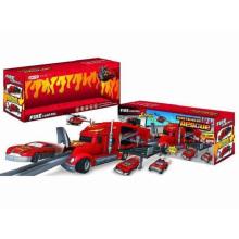 Die-Cast Estacionamento Lot Set Toy F / W arrastar carro principal / com Luz / Música / Use 3 * AA Fire Control