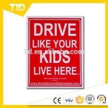 Dirija Como Seus Filhos Viver Aqui Sinal De Quintal, Devagar / Crianças No Jogo Lembrete, 18x24 Cm