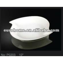 Forma de pájaro placa de cerámica pintura P0203