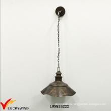 Промышленный античный стиль крышкой тени внутри один свет кулон