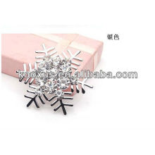 Snowflake broche de jóias por atacado