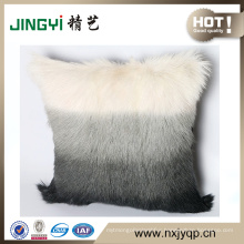 Cute Color Milk Goat Skin Pillows Dyed Multi-Colored