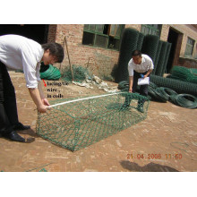 Galvanisierter Gabion / Gabion Korb / PVC beschichtet Gabion Box