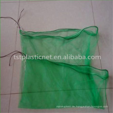 100% Virgin HDPE Ernte grün Paket Datum Netztasche