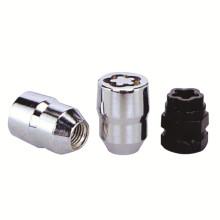 4+1PCS Carbon Steel Wheel Lock Set with Black Key