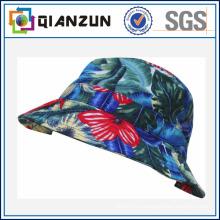 Kundenspezifisches Design-Etikett-Logo-populäres Blumen-unbelegte Eimer-Kappe