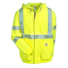 Men's Flame-Resistant High-Visibility Hooded Sweatshirt