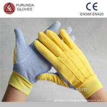 Gants de travail de jardin avec des points de pvc sur la paume, gants pour femmes prix