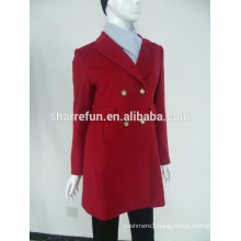 Luxury classic style women cashmere wool coat