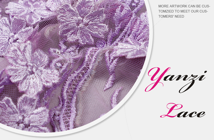 3D Embroidery Lace Fabrics