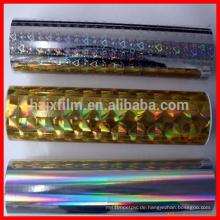 Pet metallisierte thermische Laminierfolien / Hologramm thermische Laminierfolie / Bopp Laminierfolie