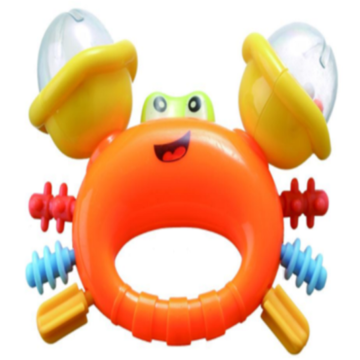 Safe Cute Crab Shape Baby Bell Toy