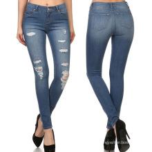 2018 venda quente mulheres de cintura alta moda jeans skinny jeans