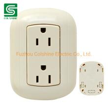 American Standard Duplex Socket Wall Outlet Electrical Power