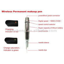 Máquina de maquillaje permanente recargable y suministro de tatuaje