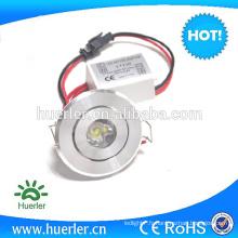 1W éclairage encastré LED plafonnier downlight 230v rond encastré conduit vers le bas de la lumière
