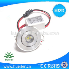 2016 Hot Selling high Efficiently 1w Recessed Led Down Light