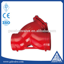 ductile iron grooved pipe y strainer for water