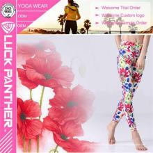 Sublimação colorida do projeto novo impresso leggings florais para a aptidão das mulheres
