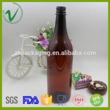 Meilleur vente en gros bouteille en plastique ambré en plastique pour l'emballage du vin