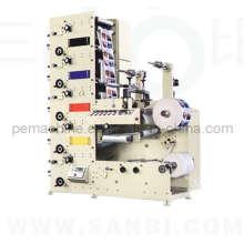 Machine d'impression flexographique à étiquettes entièrement automatique (Type de pile à largeur étroite)