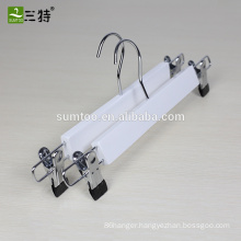 cheap white color wood bottom pants skirt hanger