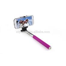 Extended coloridos bluetooth selfie vara, stick selfie cartoon, vara de selfie com fio