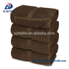 Wholesale cotton hotel towels brown bath towel
