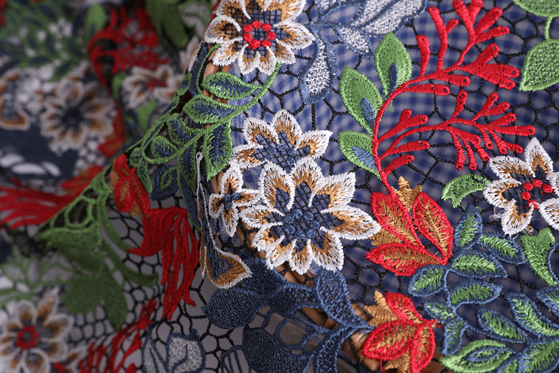 Multicolor Chemical Lace Fabric