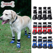 wholesale soft reflecting waterproof dog boots shoes