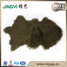 La piel al por mayor de las ovejas de la piel del cordero de Tíbet de Mongol teñió el color de la nieve