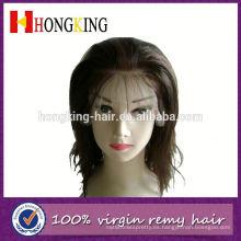 Peluca brasileña del frente del cordón del cabello humano grueso de la Virgen hecha en China